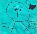 Petits, Moyens et Grands ont travaillé à la manière de Joan Miro, dans le cadre des Arts Visuels avec les Maternelles à l'école Notre Dame des Anges (31)