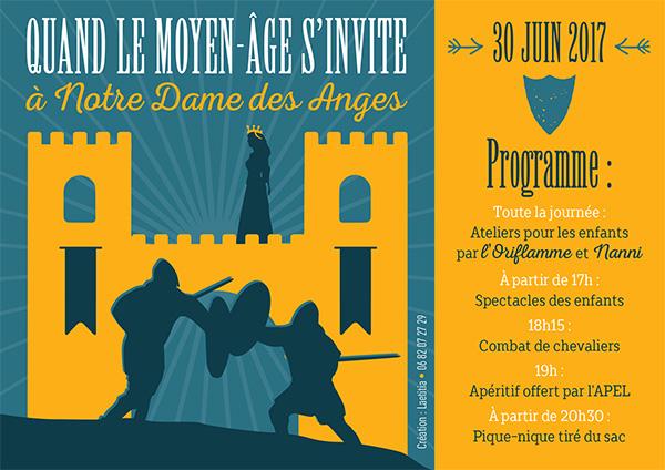 La Fête de fin d'année à Notre Dame des Anges (31) aura lieu le 30 juin 201 sur le thème de la chevalerie. Apprentis d'Auteuil